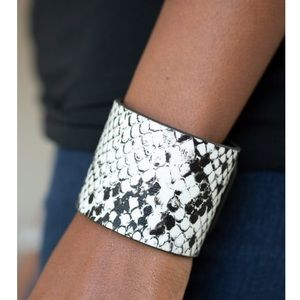 The rest is HISS-Tory white snap bracelet